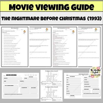 The Nightmare Before Christmas Movie Viewing Guide. Graphic Organizers