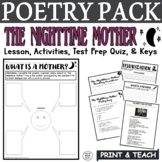 The Nighttime Mother: Common Core Poetry Test Prep Lesson, Quiz, Activities