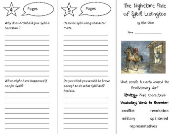 The Nighttime Ride of Sybil Ludington Trifold - 5th G Literacy by Design Theme 1