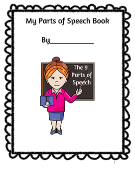 My Parts of Speech Book