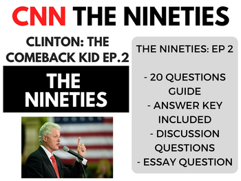 The Nineties CNN Ep. 2 Bill Clinton: The Comeback Kid