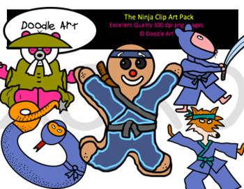 The Ninja Clipart Pack