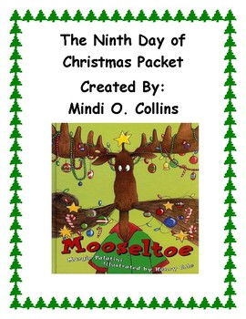 Ninth Day Of Christmas.The Ninth Day Of Christmas Packet Mooseltoe Activities