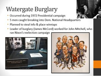 The Nixon Years and the Watergate Scandal PowerPoint Lesson