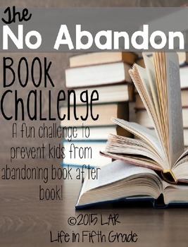 The No Abandon Book Challenge (Editable!)