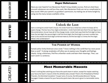 The No-Fuss Early Finisher Enrichment Choice Board [40 weeks/160 activities]