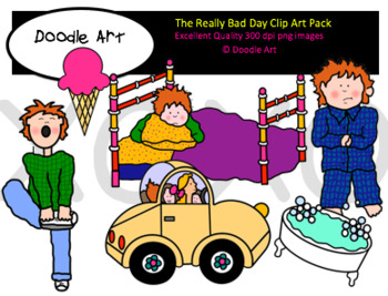 The No Good Day Clipart Pack