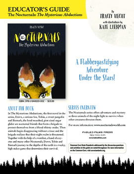The Nocturnals: The Mysterious Abductions Common Core Language Arts Guide