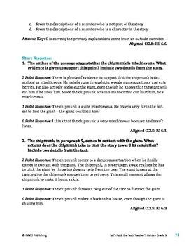The Noisy Chipmunk - Literary Text Test Prep