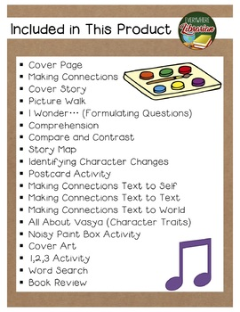 The Noisy Paint Box by Barb Rosenstock 17 Book Extension Activities NO PREP
