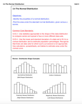 The Normal Distribution (Lesson with Homework)