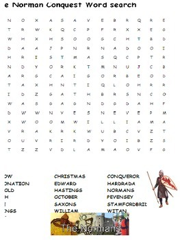 The Norman Conquest Wordsearch