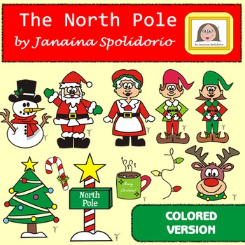 The North Pole Clipart - Colored version
