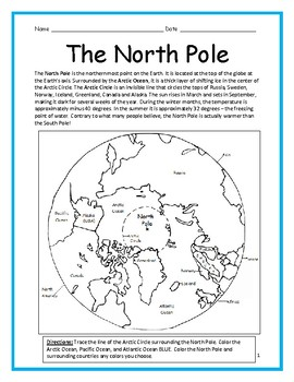 The North Pole - Printable handout with map on map of alaska, map of scotland, map of north america, map of greenland, map of the world, map of arctic circle, map of the oceans, map of canada, map of the lake baikal, map of africa, map of the united states, map of england, map of the two rivers, map of the great lakes, map of eastern north carolina, map of turkey, map of antarctica, map of the philadelphia, map of another country,