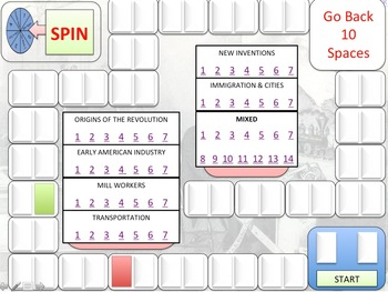 The North - Revision Lesson Board Game