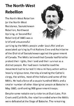 The North-West Rebellion Handout