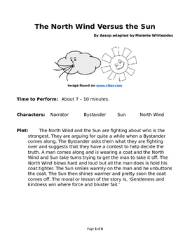 The North Wind Versus The Sun - Small Group Reader's Theater by Aesop