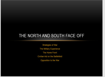 The North and South Face Off - Civil War
