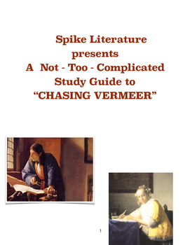 'Chasing Vermeer' Not-Too-Complicated Study Guide (study guide only)