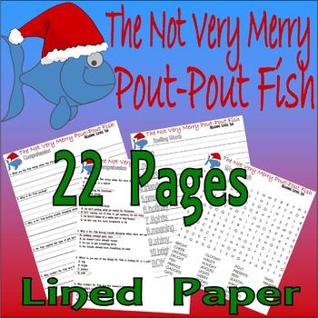 The Not Very Merry Pout-Pout Fish Christmas 17pg Comprehension Activity