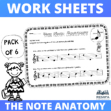 The Note Anatomy Worksheets - 6 pack - Ages 4+