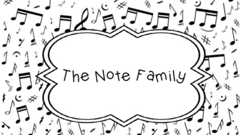 The Note Family-Introducing Whole, Half, and Quarter Notes
