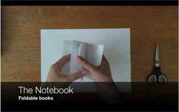 The Notebook - foldable books - Video instruction for kids