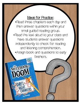 The Notebook of Doom: Day of the Night Crawlers Comprehension Questions (Book 2)