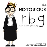 The Notorious RBG: Supreme Court Justice Ruth Bader Ginsburg Clip Art Freebie