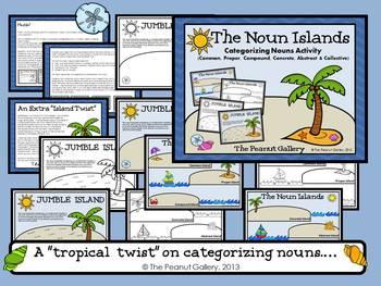 The Noun Islands  (Categorizing Nouns Activity)