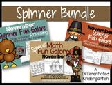 The November Spinner Bundle-Math, Letter/Sounds & Rhyming