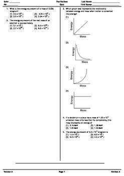 The Nucleus Quiz Version A