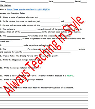 The Nucleus Video Worksheet