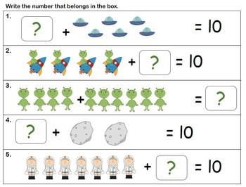 Composing and decomposing the number 10