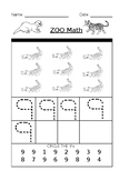 The Number 9 Worksheet Zoo Math