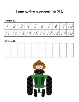 The Number Farm (Tracing and Writing Numerals to 20)