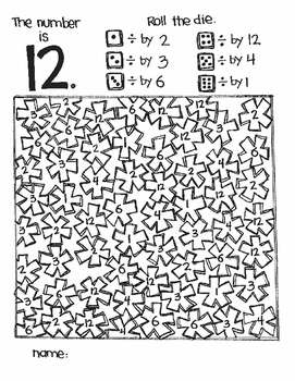The Number Is...DIVISION (a roll and color game)