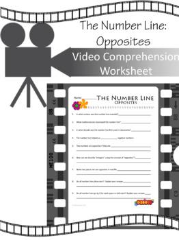 The Number Line (Part 1):  Opposites VIDEO WORKSHEET