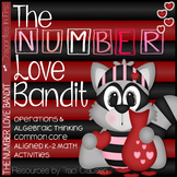 Math Games and Activities for February - The Number Love Bandit