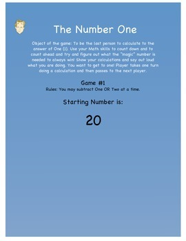 The Number One - Cool Math Game - Subtraction, Calculation, Thinking Ahead