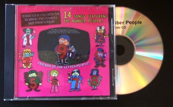 The Number People  (Letter People Cousins) CD album