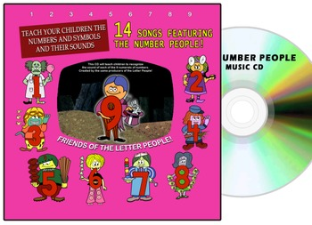 The Number People CD Album - Letter People Cousins