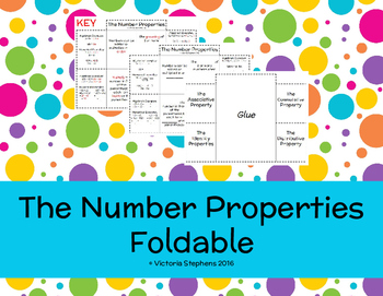The Number Properties Foldable