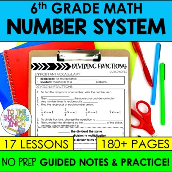 The Number System- 6th Grade Math Guided Notes and Activities
