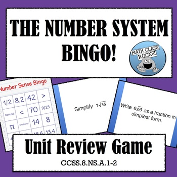 THE NUMBER SYSTEM BINGO! UNIT REVIEW GAME