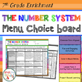 7th Grade The Number System Choice Board – Enrichment Math Menu