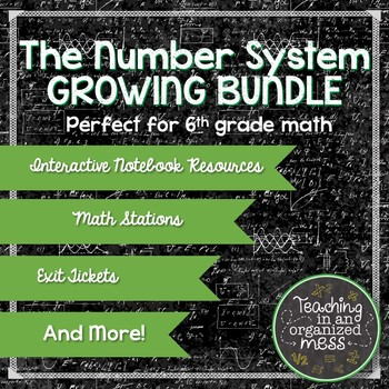 Rational Numbers and Number System Growing BUNDLE 6th Grade Math