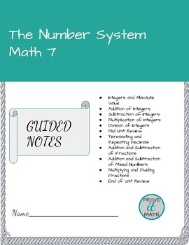The Number System Guided Notes