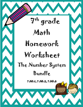 The Number System Homework Bundle