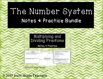 The Number System Notes and Practice Bundle